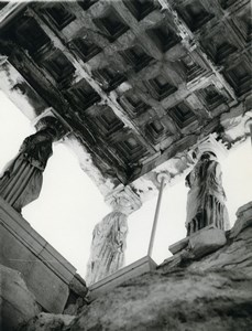 Tunisia Carthage Study Architecture Statues Ceiling Old Photo Leon Lemaire 1935