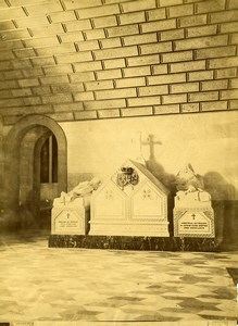 Spain El Escorial Palace Tombs Gisant Old Photo 1890
