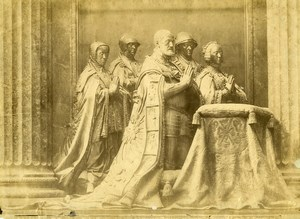 Spain El Escorial Palace Group Statues Charles V Old Photo 1890