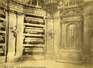 Spain El Escorial Pantheon of the Kings Altar Old Photo 1890