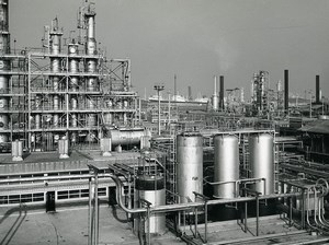 France Saint Pol sur Mer BP Oil Refinery Old Photo 1959