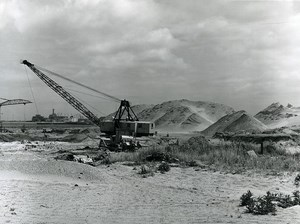 France Dunkerque Dunkirk Harbor Dock VI Construction Crane Old Photo 1962