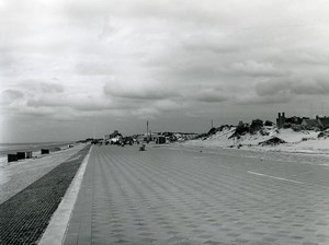 France Malo les Bains dike east section Digue Old Photo 1962