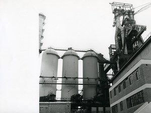 France Dunkerque Dunkirk Steel factory Old Photo 1962