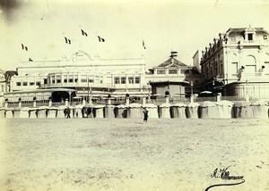 France Trouville Casino Beach Huts Old Photo Villeneuve 1900