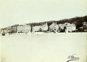 France Trouville the beach Old Photo Villeneuve 1900