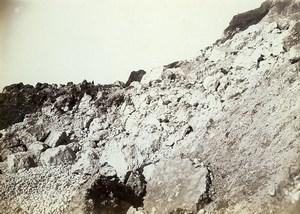 France la Hève Cliff landslide crumbling Old Photo Villeneuve 1900