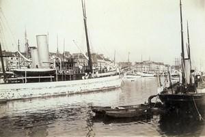 France Le Havre Yachts Boats under repair Old Photo Villeneuve 1900