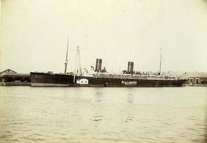 France Le Havre French Line Ocean Liner La Lorraine Old Photo Villeneuve 1900