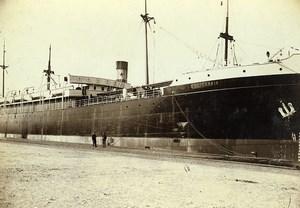 France Le Havre French Line Californie entering dry dock Photo Villeneuve 1900