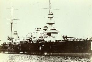 France Toulon Bay bBttleship ship Patrie Old Photo Villeneuve 1900