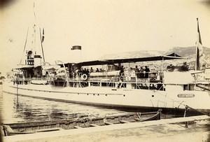 France Toulon Destroyer Claymore contre torpilleur Old Photo Villeneuve 1900