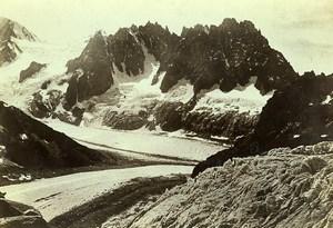 France Alps Mont Blanc Range Glaciers Les Chaux Old Photo Villeneuve 1900