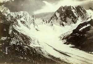 France Alps Mont Blanc Range Les Chaux Glacier Old Photo Villeneuve 1900