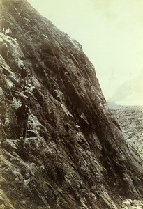 France Alps Chamonix le Mauvais Pas Mountain Old Photo Villeneuve 1900