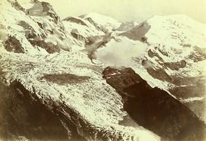 France Alps Chamonix Bossons Glacier Old Photo Villeneuve 1900