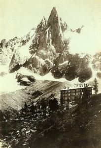 France Alps Chamonix Montenvers Aiguille du Dru Old Photo Villeneuve 1900