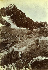 Alps Chamonix Aiguille du Chardonnet Argentieres Glacier Photo Villeneuve 1900