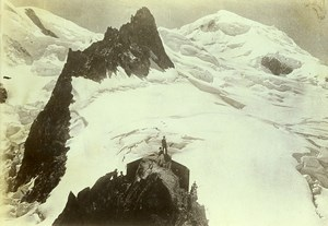 France Alps Chamonix Mont Blanc Grands-Mulets Old Photo Villeneuve 1900