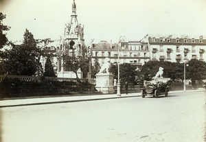 Switzerland Geneva Automobile & Monument Brunswick Old Photo Villeneuve 1900