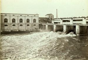 Switzerland Vernier the Rhone Dam Old Photo Villeneuve 1900