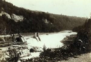 France Bellegarde Perte du Rhone Old Photo Villeneuve 1900