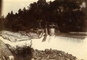 France Bellegarde Perte du Rhone waterfall Old Photo Villeneuve 1900