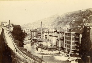 France Vienne la Cere Factories Industrial Buildings Old Photo Villeneuve 1900