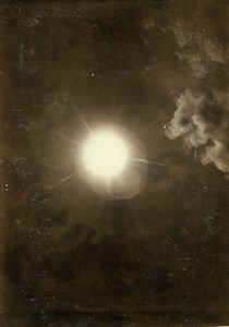 Direct photography of the sun with cloud effect Old Photo Villeneuve 1900