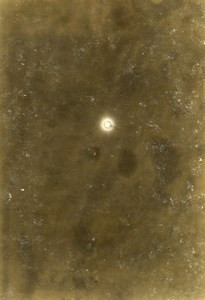Photograph of a partial eclipse of the sun Old Photo Villeneuve 1900