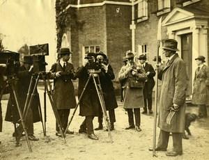 Royaume Uni Groupe de Cinéastes Photographes & Comte de Strathmore Ancienne Photo 1923