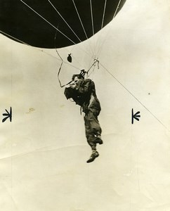 USA Photographe suspendu a un ballon captif Ancienne Photo 1928
