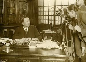 London Director Widgey P Newman Filming JH Thomas Old Photo 1926