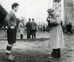 France le Footballeur & le Photographe Ancienne Photo 1955
