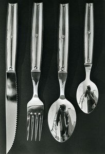 France Photographer's Reflection Publicity Cutlery Old Photo 1960