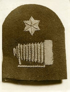 United Kingdom Photo du Badge pour les Photographes Navals Militaires vers 1920