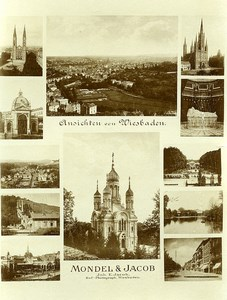Allemagne Wiesbaden Photo Publicitaire Mondel & Jacob Photographe vers 1890