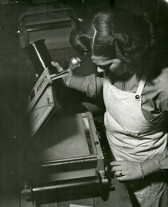 USA WWII Private Jane Faulkner Laboratoire de Photographie Aérienne? Ancienne Photo 1944