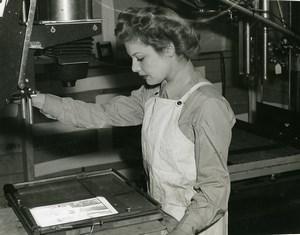 USA WWII Private Helen Reynolds Laboratoire de Photographie Aérienne? Ancienne Photo 1944