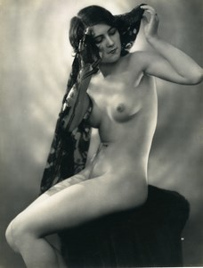 France Nude Woman Study Portrait Risque Old Photo Armand Noyer 1920