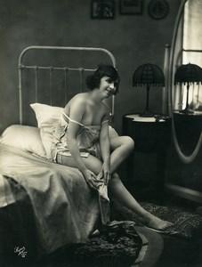 France Nude Woman Study Portrait Risque Old Photo Studio Super 1920
