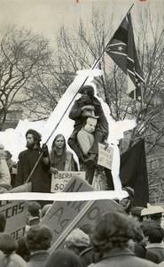 USA Washington DC Demonstration against President Nixon Election Old Photo 1969