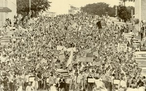 USA Austin Antiwar Demonstration Vietnam War Protest Old Photo 1970
