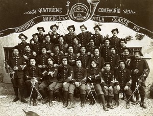 France Alps 4e Compagnie Chasseurs Alpins Old Group Photo 1899