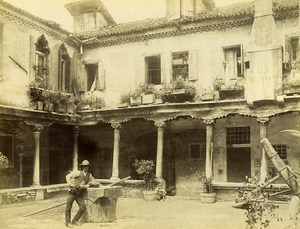 Italy Venice old House courtyard Old Photo Brusa 1890