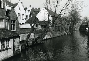 Belgium Bruges Historical Flemish City Canal Old Art Photo Deplechin 1970
