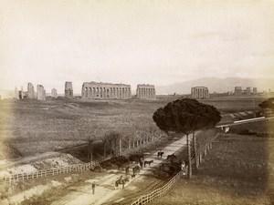 Italie Rome Aqueduc Aqua Claudia Panorama Ancienne Photo 1880