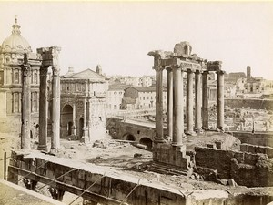 Italie Rome le Forum Romain Architecture Ancienne Photo 1880