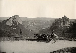 France Auvergne the Rocks Tuilliere & Samadoire Mountain Horse Old Photo 1890