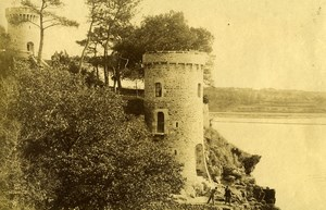France Brittany La Rance Le Chene Vert Castle Old Photo 1890